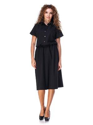 Сукня чорна зі зручним поясом на резинці   3315324