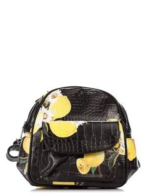 Рюкзак черный в принт | 3309208