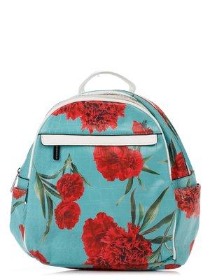 Рюкзак зеленый в цветочный принт | 3309202