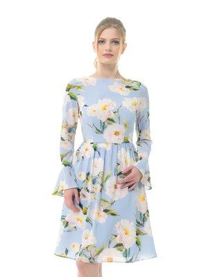 Платье голубое в принт   3321983