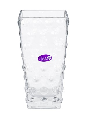 Ваза стеклянная настольная (10x10х20 см) | 3324019