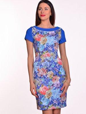 Платье в цветочный принт | 3324228