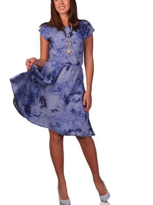 Платье синее в принт | 3324269