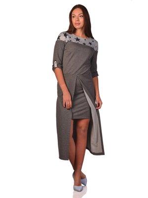 Сукня сіра з принтом | 3324273