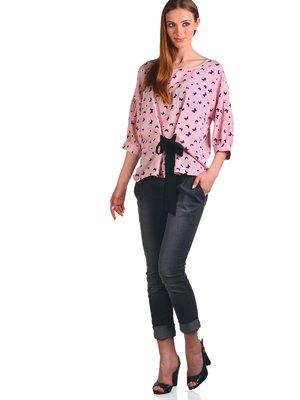 Блуза рожева в принт | 3324292