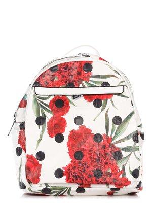 Рюкзак белый в цветочный принт | 3309201