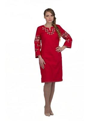 Сукня червона з вишивкою | 3130340