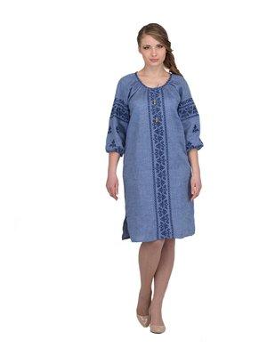 Сукня блакитна з вишивкою | 3130342
