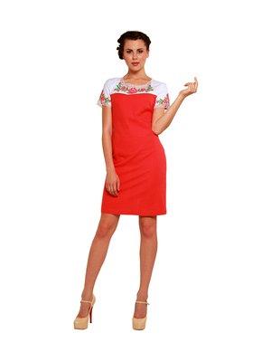 Сукня червоно-біла з вишивкою | 3130448