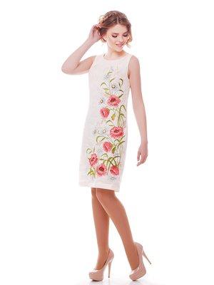 Платье молочного цвета с вышивкой | 3325409