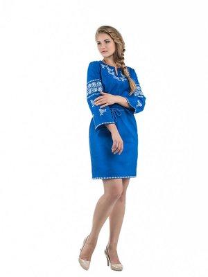 Сукня синя з вишивкою | 3325429
