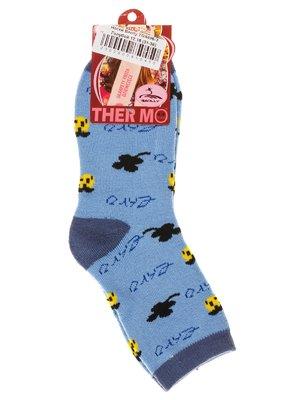 Носки голубые в принт | 2917002