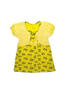 Платье желтое в принт   3331881