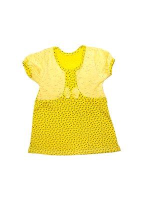 Платье желтое в принт | 3331882