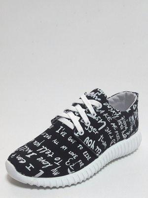 Кросівки чорні у принт | 3333570