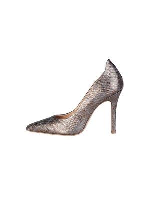 Туфли коричнево-серебристые | 3334129