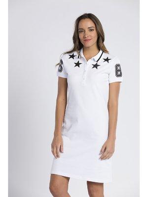 Сукня біла з принтом   3339010