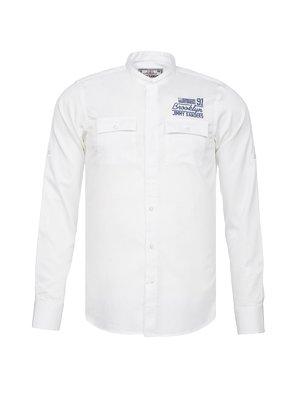 Рубашка белая с рисунком | 3339022