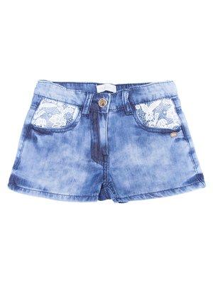 Шорты синие джинсовые | 3344497