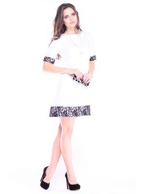 Платье молочно-черного цвета | 3184339