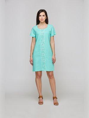 Платье цвета мяты с кружевом | 3274149