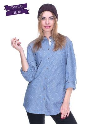 Рубашка синяя в горох | 1899383