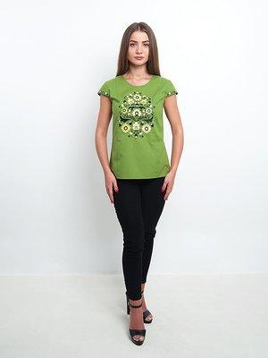 Блуза зелена з вишивкою | 3357607
