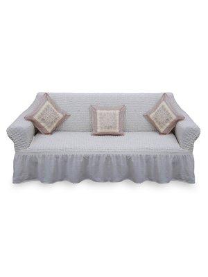 Чехол на диван кремового цвета | 3362050
