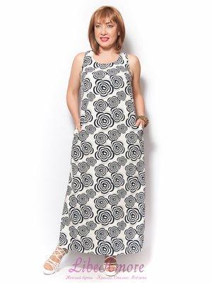 Платье белое с принтом | 3365298