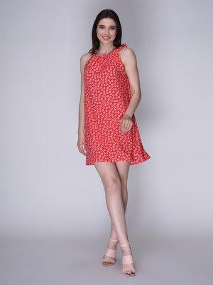 Сукня червона в квіти   3365840