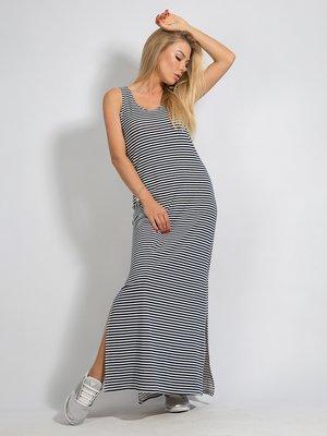 Платье бело-синее в полоску | 3365245