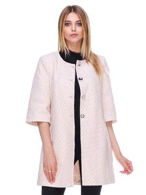 Пальто розовое в принт   3095486