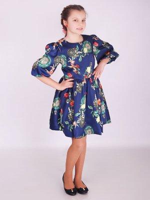 Сукня синя в принт   3308129