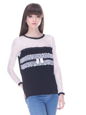 Лонгслив бело-черный   3145961