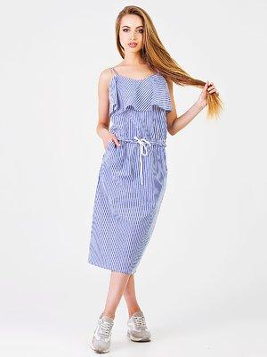 Сукня блакитна в смужку | 3378204