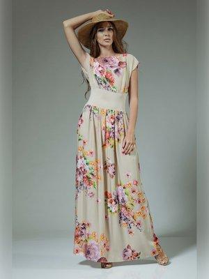 Платье в цветочный принт | 3381406