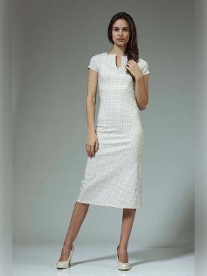 Платье бежевое с принтом | 3381414