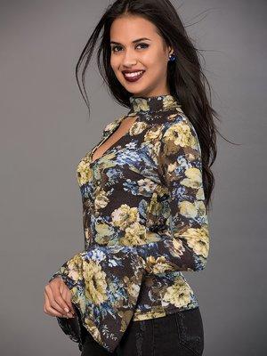 Блуза з квітковим принтом | 3369406