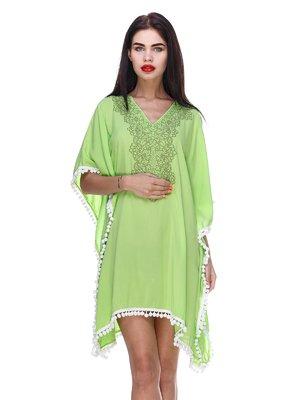 Платье салатовое в этническом стиле | 3366137
