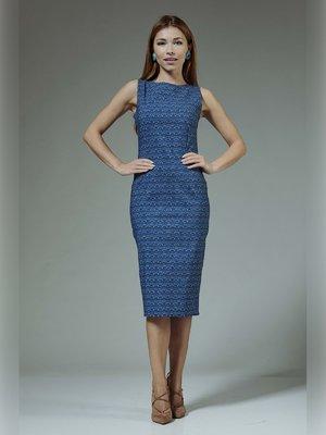 Платье синее с принтом | 3381343