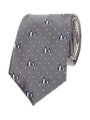 Краватка сіра в принт та горошок | 3388042
