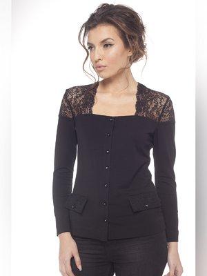 Блуза чорна з мереживом   3106549