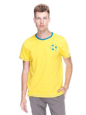 Футболка желтая с принтом | 3388112