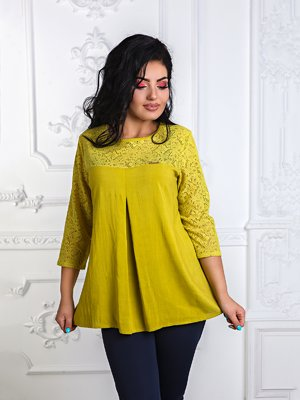 Блуза горчичного цвета | 3395630