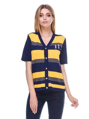 Кардиган сине-желтый в полоску   3395498