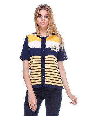 Кофта сине-желтая в полоску | 3395499