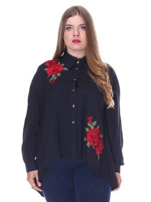 Сорочка чорна з вишивкою | 3384754