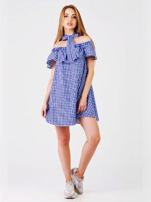 Платье синее в клетку | 3399551