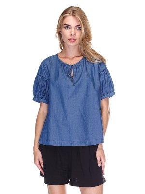Блуза синяя | 3381635