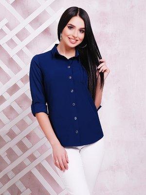 Рубашка темно-синяя | 3405541